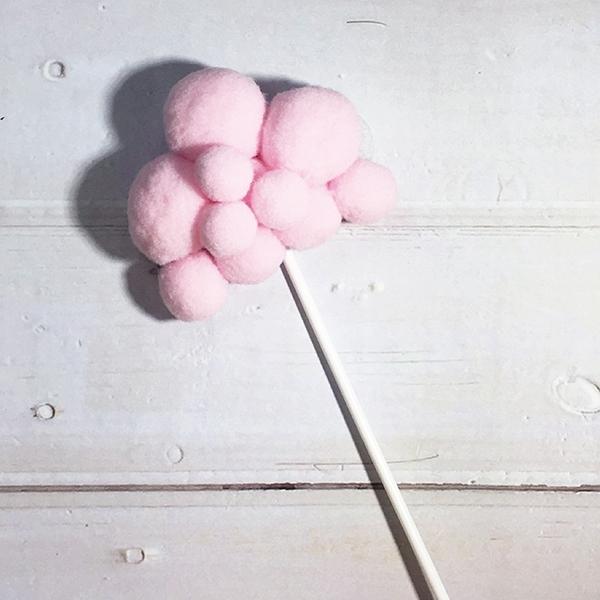 蛋糕配件-粉紅雲