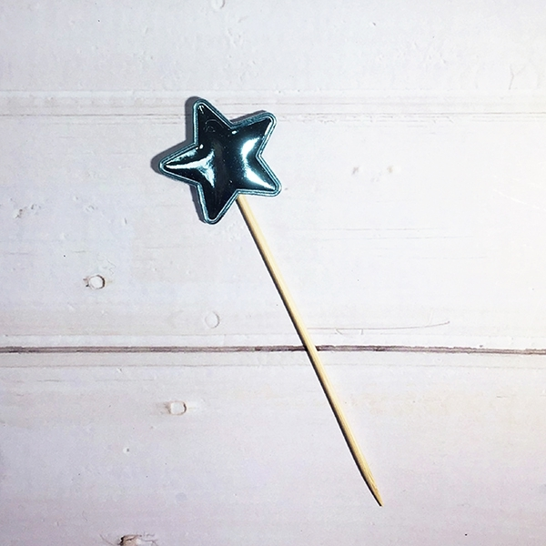 配件-E14-亮皮星星-藍色