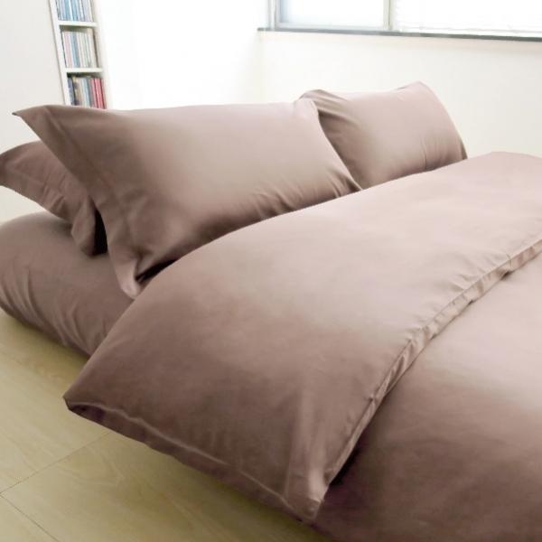Elegant 三件式床組 E013 深卡其 被單6x7呎 枕套組 (此床組不含平單)
