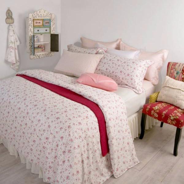 azomaco印花四件式床組-A250 清嫩玫薰 平單尺寸:9x10呎(約270x300 cm) ; 被子尺寸:6x7呎(約180x210 cm)