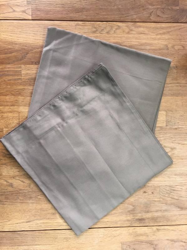(福利品)  Elegant 橄欖綠&粉紫色 枕套x2 共4件
