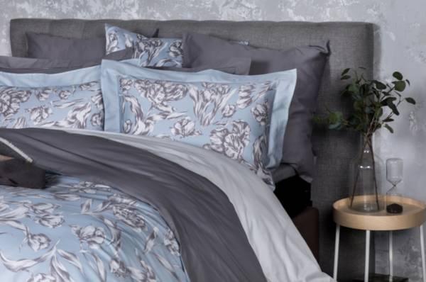 Cloudy Tulips頂級原裝埃及棉緞織四件式床組(標準床包+加大被套)