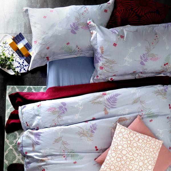 (QUEEN雙人加大)La Fatte新品|印花四件式床組-LAT010 樂琪維亞  加大雙⼈床包被單組 6*7 ST 6*6.2*35