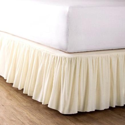 azomaco 細摺床裙 米
