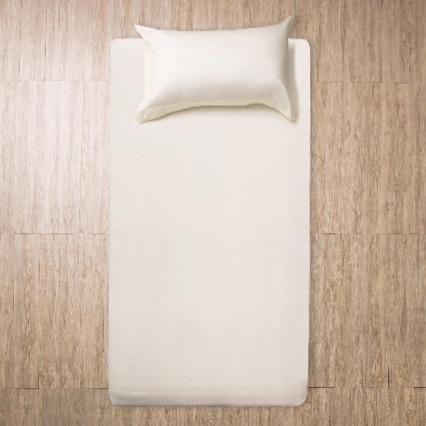 Azomaco原色床單枕套組-杏色