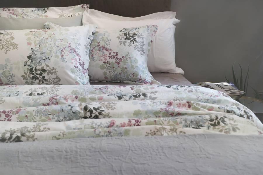 WildFlower頂級原裝埃及棉緞織四件式床組(標準床包+加大被套)