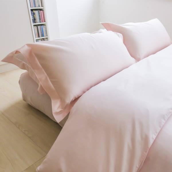 azomaco純色四件式床組 A222 BABY淺粉 床包尺寸:5x6.2呎(約150x186 cm) ; 被子尺寸:6x7呎(約180x210 cm)