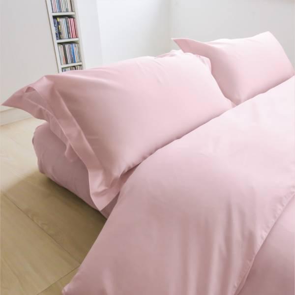 azomaco純色四件式床組 A252 櫻花淺粉 床包尺寸:5x6.2呎(約150x186 cm) ; 被子尺寸:6x7呎(約180x210 cm)