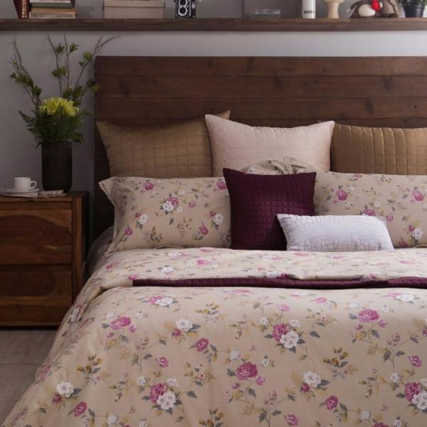 azomaco印花四件式床組-A255 玲瓏花楹 床包尺寸:5x6.2呎(約150x186 cm) ; 被子尺寸:6x7呎(約180x210 cm)