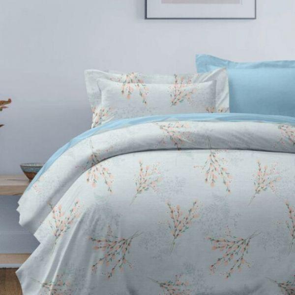 (標準雙人)La Fatte新品DC010 春華燦爛 印花四件式床組 雙⼈床包兩用被單組