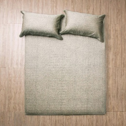 azomaco原色床單枕套組-墨色 雙人床單PC組 5*6.2*30
