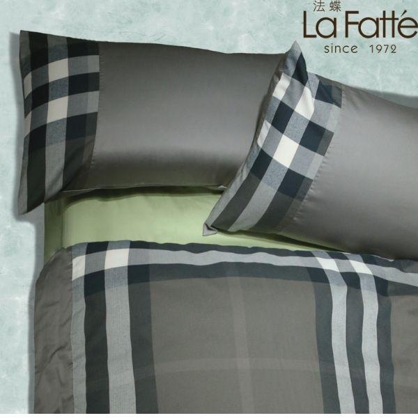 (拍照樣品)經典英倫系列灰綠格紋被胎枕頭套三件組6*7 primaloft溫暖被 47*74灰綠格紋美式枕頭套(無床包)