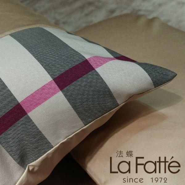 (法蝶新品)經典英倫系列卡其格紋美式枕頭套47*74(一付兩件)