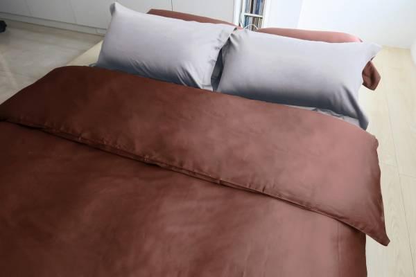 E016 咖 被單6x7呎 枕套組 | azomaco輕質灰床包枕套組