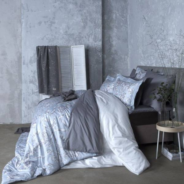 Cloudy Tulips頂級原裝埃及棉緞織四件式床組(Queen床包+加大被套)