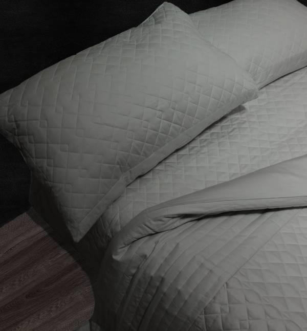 (法蝶新品)Lafatt'e rainbow 鐵灰系列  車棉Quitting5*6.2/6*7被套床包四件組 100%純棉