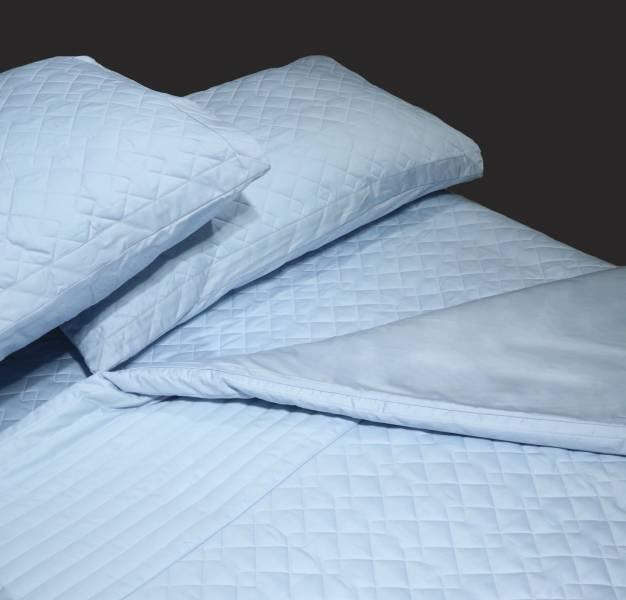 限時下殺(標準雙人)Lafatt'e rainbow 天空藍系列  車棉Quitting5*6.2/6*7被套床包四件組 100%純棉