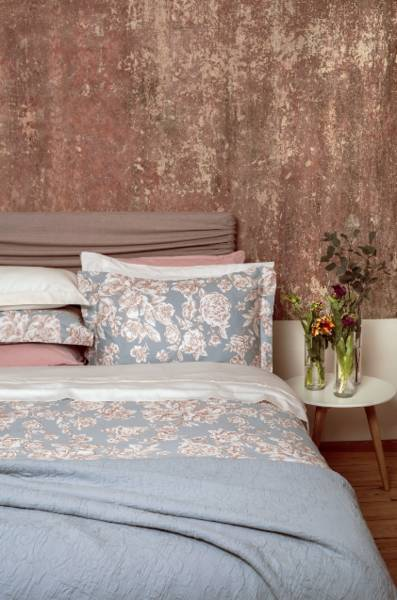 Peony Crystal頂級原裝埃及棉緞織四件式床組(Queen床包+加大被套)