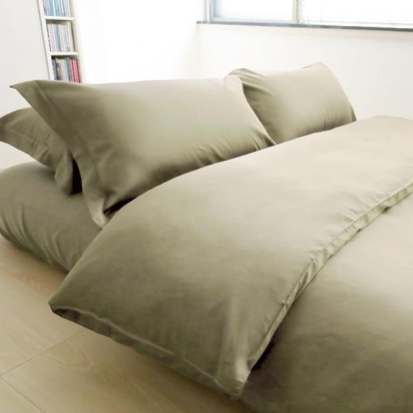 Elegant 三件式床組 E017 棕綠 被單6x7呎 枕套組 (此床組不含平單)
