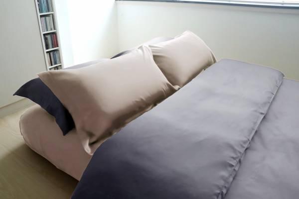 E012 深灰 被單6x7呎 枕套組 | azomaco奶油棕床包枕套組