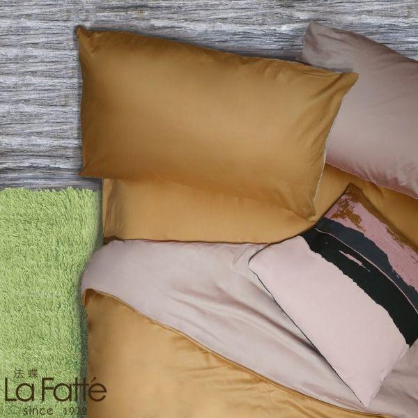 (拍照樣品)標準雙人 COLOR 牛奶粉法蝶新品純色系列四件式床包被單組 5*6.2/6*7ST