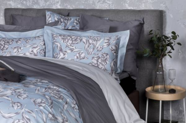 Cloudy Tulips頂級原裝埃及棉緞織四件式床組(標準床包+一般被套)