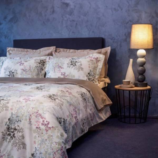 WildFlower頂級原裝埃及棉緞織四件式床組(Queen床包+加大被套)