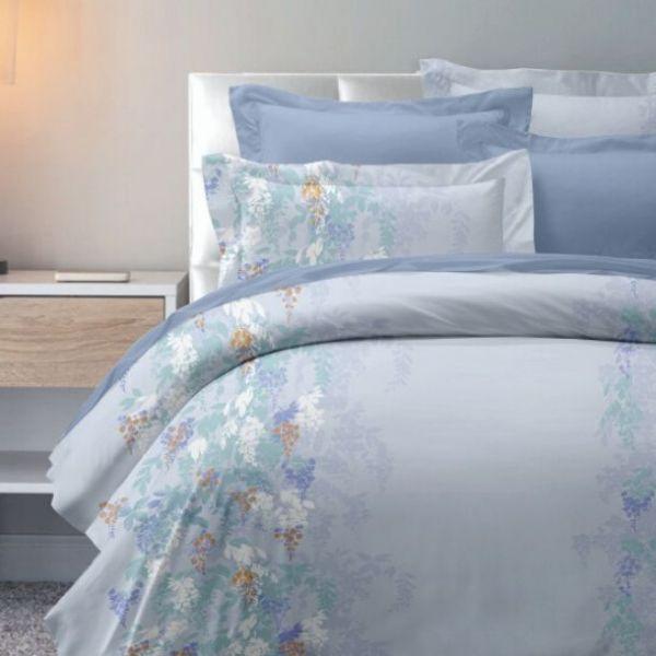 (標準雙人)La Fatte新品DC08 舞蔓|印花四件式床組 雙⼈床包兩用被單組