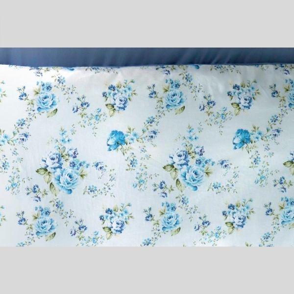英倫玫瑰 藍  涼被5*7呎