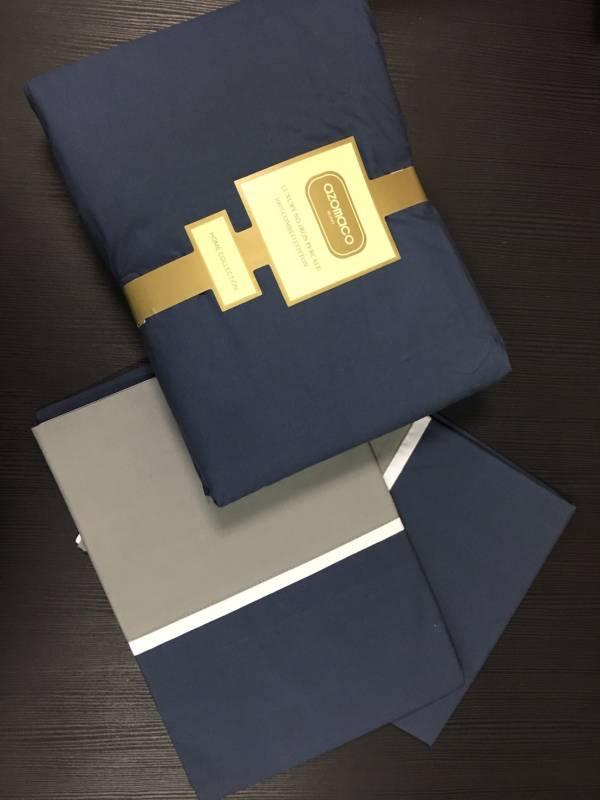 ALNAMERA 藍灰 平單枕套組9*10