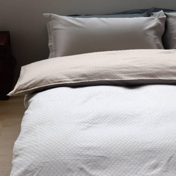 PUCK 紋 雙緹花被單pc組 被套6*7枕套x2