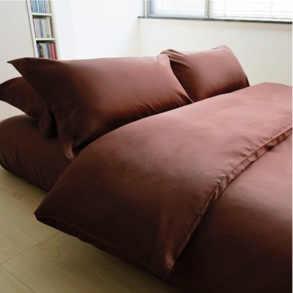 Elegant 三件式床組 E016 咖 被單6x7呎 枕套組 (此床組不含平單)