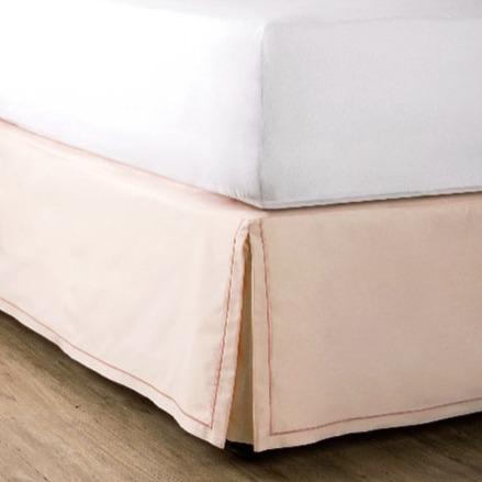 繡框床裙 - 粉