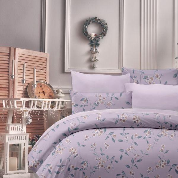 (標準雙人)La Fatte新品DC05 墨爾本|印花四件式床組 雙⼈床包兩用被單組