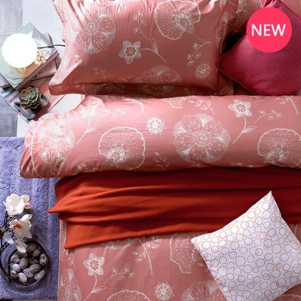 法蝶新品  8*7 ST 6*6.2*35 印花四件式床組-LAT05 巴黎酒莊 雙⼈加大床包加大被單組