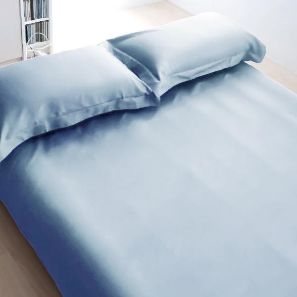 Elegant 三件式床組 E008 恬靜藍 平單9x10呎 枕套組