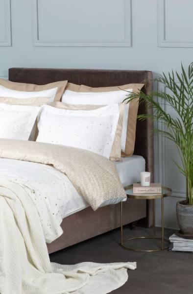 Cosmo Gold頂級原裝埃及棉緞織四件式床組(Queen床包+一般被套)