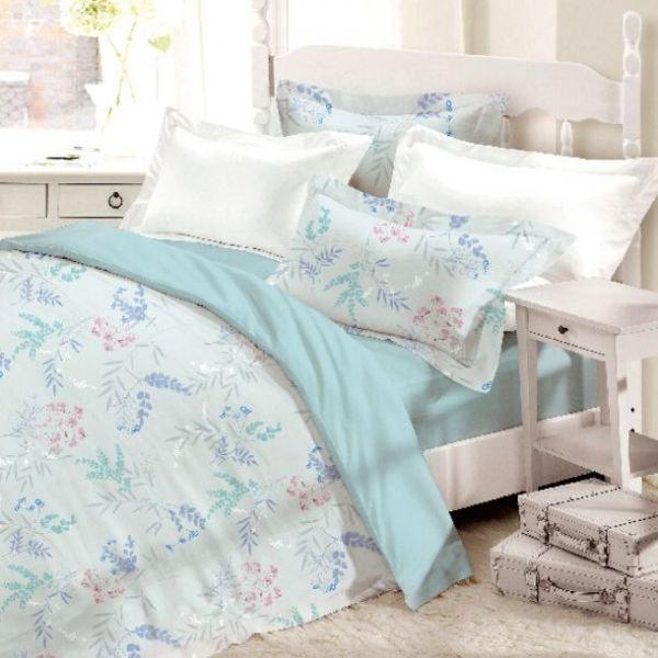 (標準雙人)La Fatte新品DC05 佩里格|印花四件式床組 雙⼈床包兩用被單組