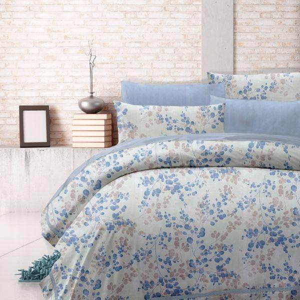 (標準雙人)La Fatte新品DC07 寧木靜想|印花四件式床組 雙⼈床包兩用被單組