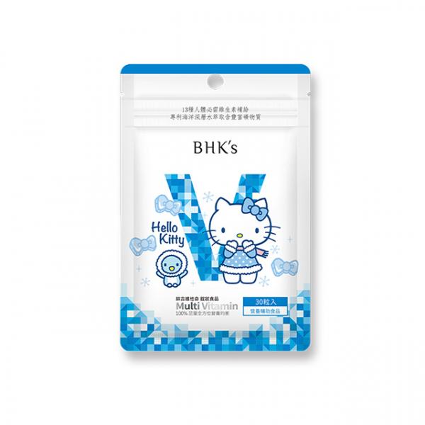 【冬雪飄飄】BHK's 綜合維他命錠 (30粒/袋)♥Hello Kitty 綜合維他命,HelloKitty,綜合維生素,Kitty聯名