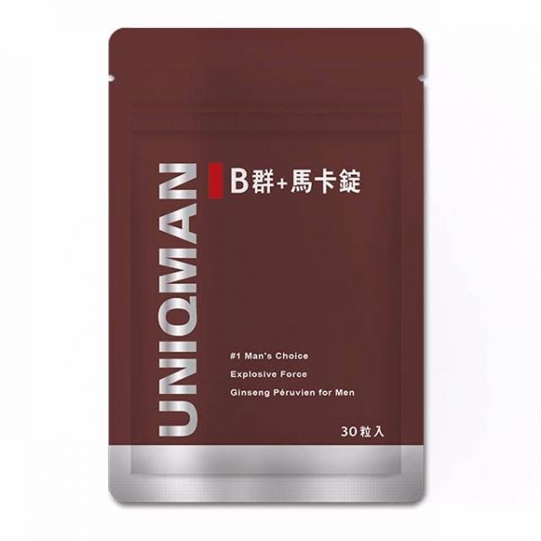 【精神滋養】UNIQMAN B群+馬卡錠 (30粒/袋)