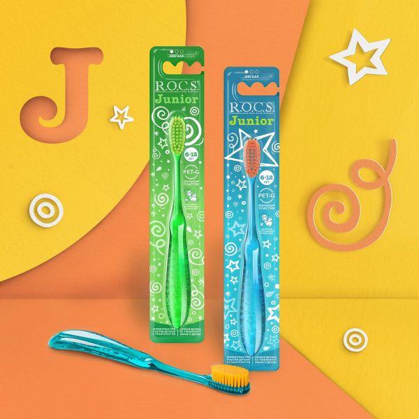 R.O.C.S. 6-12歲的小學生專用牙刷 隨機出色 (兒科牙醫合作開發) ROCS,R.O.C.S.,牙刷