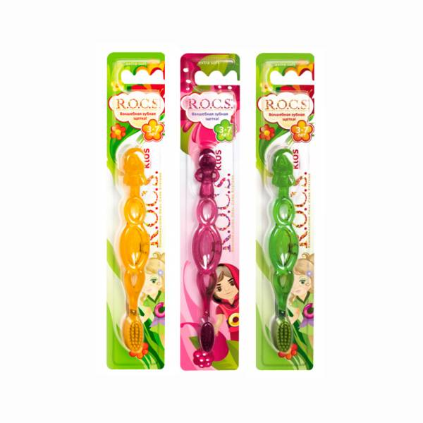 R.O.C.S 3-7歲幼兒專用牙刷 (隨機出色) ROCS,牙刷,兒童牙刷,軟毛,軟刷毛,潔牙,刷頭,柔軟