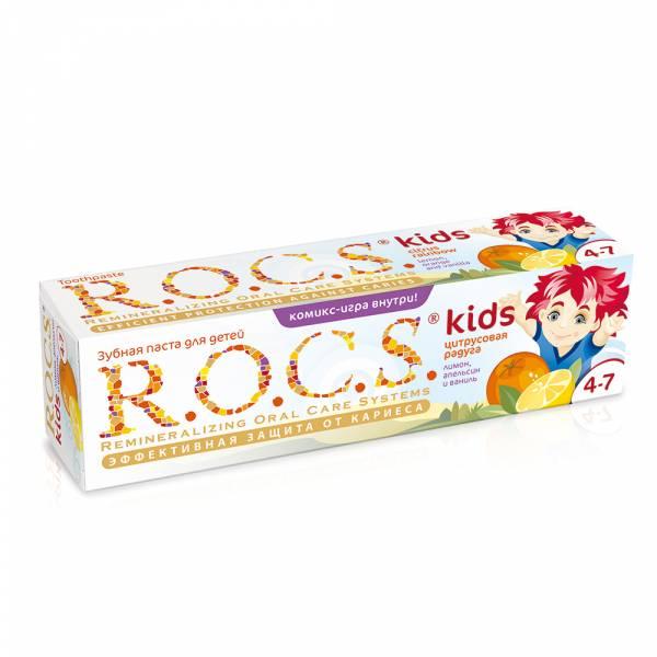 【即期良品】R.O.C.S 含氟 4-7歲兒童牙膏 綜合水果 含氟,兒童牙膏,預防蛀牙,木醣醇,小朋友,強化琺瑯質,天然酵素