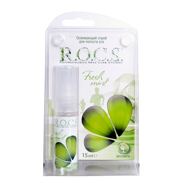 R.O.C.S 天然精油清新口腔噴霧 甜薄荷 15ml ROCS,口腔噴霧