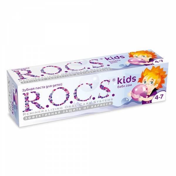 【即期良品】買一送一 R.O.C.S 含氟 4-7歲兒童牙膏泡泡糖 含氟,兒童牙膏,預防蛀牙,木醣醇,小朋友,強化琺瑯質,天然酵素