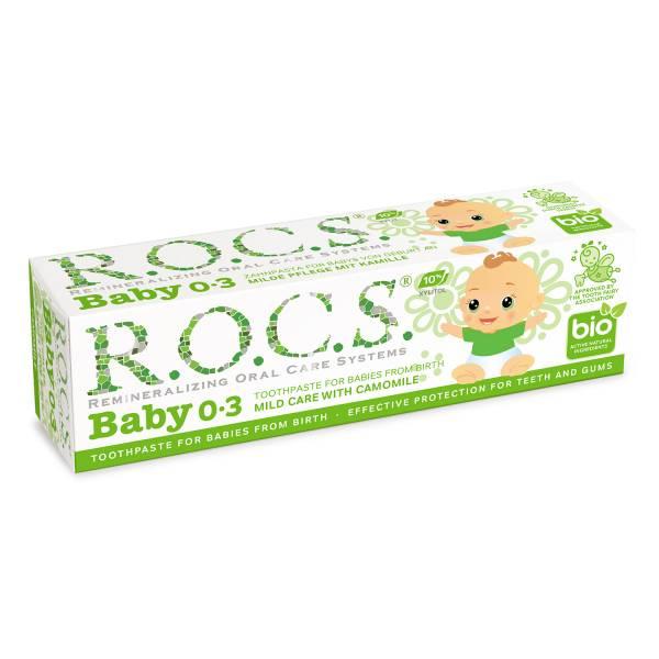 【即期良品】買一送一 R.O.C.S 不含氟 0-3歲嬰兒牙膏 洋甘菊 0-3歲,嬰兒牙膏,蛀牙,抗發炎,寶寶,不含氟