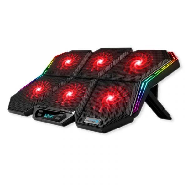 六風扇RGB筆電散熱墊