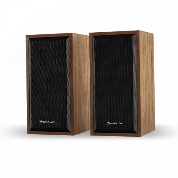 木紋兩件式喇叭 木紋多媒體電腦小音箱 兩件式喇叭 2.0聲道 USB供電 電腦喇叭 桌面喇叭