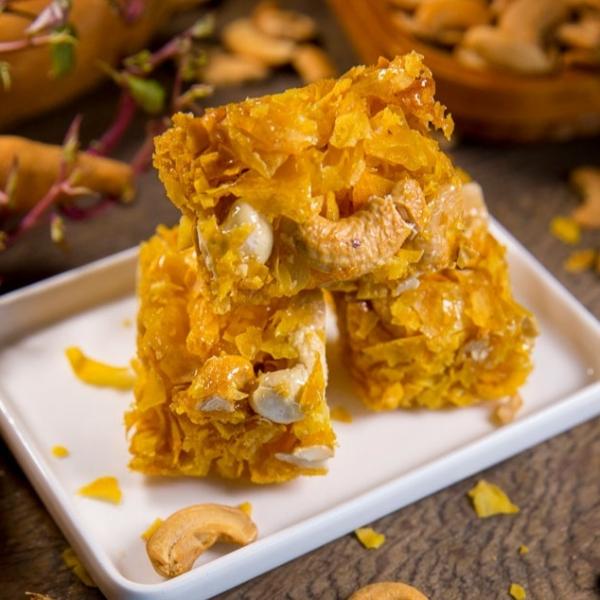 腰果蕃薯糖(全素) 小琉球,傳統,伴手禮,送禮,地瓜,地瓜酥,蕃薯糖,手工,素食,黑糖